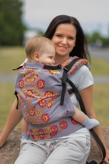 Folk Sunset, NatiGrow Adjustable Carrier, [100% cotton]