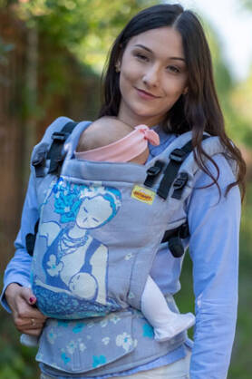 Breastfeeding Sitting Mama Pastel, NatiGrow Adjustable Carrier, [90% Baumwolle, 10% Polyester]