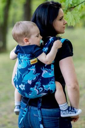 BABY Foxes Blue, ONBUHIMO CARRIER, [100% Baumwolle]