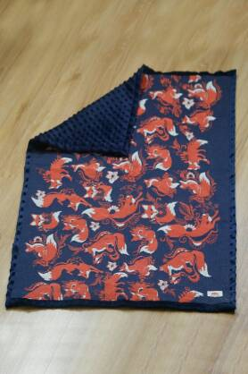 Decke NatiBlanket Foxes Orenji