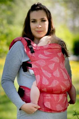BABY Ferns Red, NATIGO carrier [100% Baumwolle]