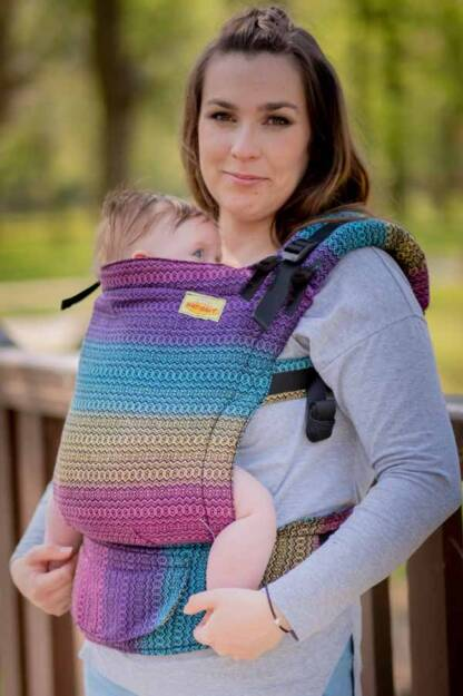 Rainbow Roam, NatiGrow Adjustable Carrier, [100% cotton]