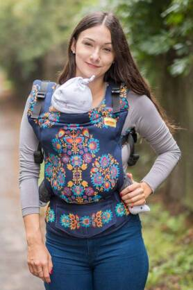 BABY Folk Delux, NATIGO carrier [100% Baumwolle]