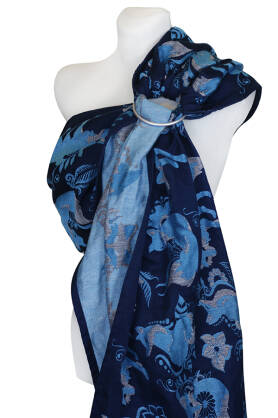 Foxes Blue, RING SLING, [100% Baumwolle]