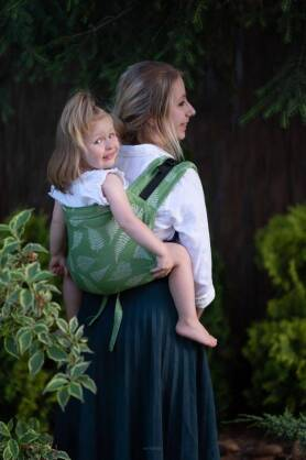 BABY Ferns Green, ONBUHIMO CARRIER, [100% Baumwolle]