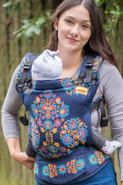 Folk Delux, NatiGrow Adjustable Carrier, [100% Baumwolle]
